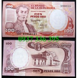 MS69 :Colombia 100 pesos 1985