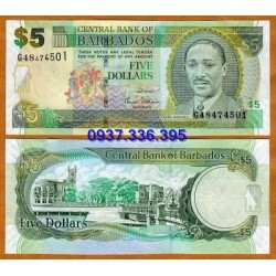 MS360:Barbados 5 Dollar 2007