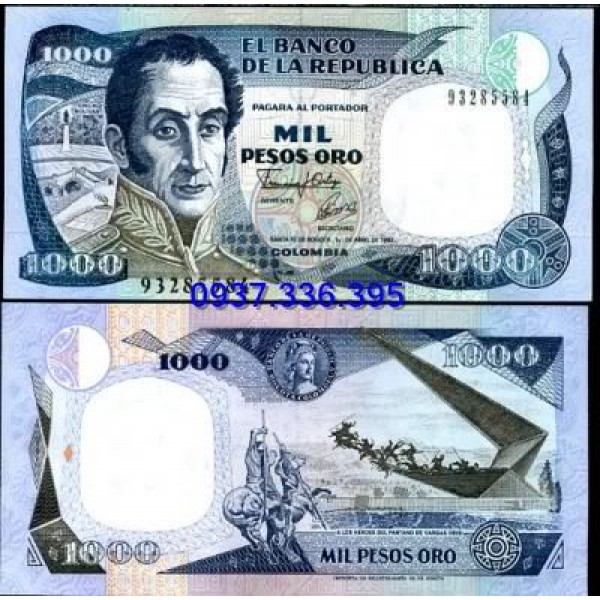 MS399: Colombia 1000 Pesos 1992