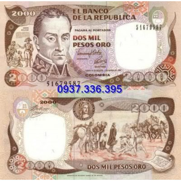 MS400: Colombia 2000 Pesos 1992