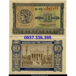 MS454: Greece 10 drachmai 1940