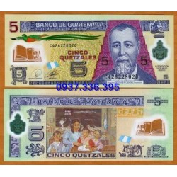 MS456: Guatemala 5 Quetzales 2011 - polymer